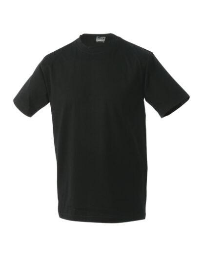 Rundhals T-Shirt schwarz