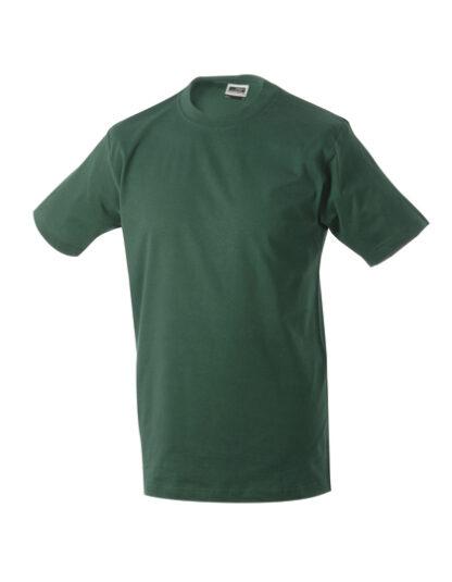 Rundhals T-Shirt dunkelgrün