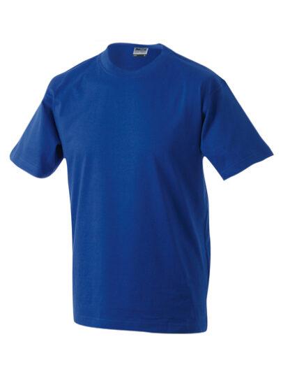 Rundhals T-Shirt dunkelblau