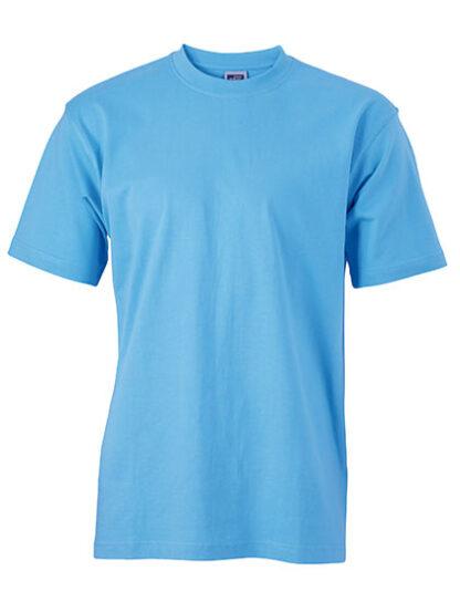 Rundhals T-Shirt hellblau