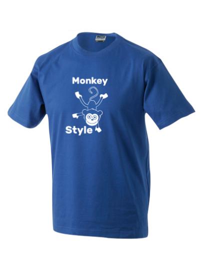 T-Shirt Monkey Style blau