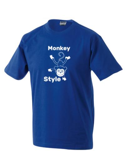 T-Shirt Monkey Style dunkelblau