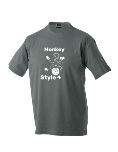 T-Shirt Monkey Style dunkelgrau