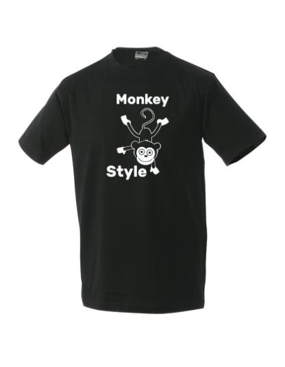 T-Shirt Monkey Style schwarz