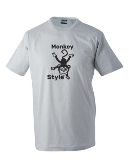 T-Shirt Monkey Style hellgrau