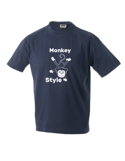 T-Shirt Monkey Style navy