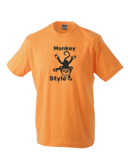 T-Shirt Monkey Style orange