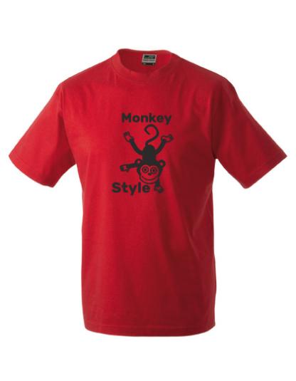 T-Shirt Monkey Style rot