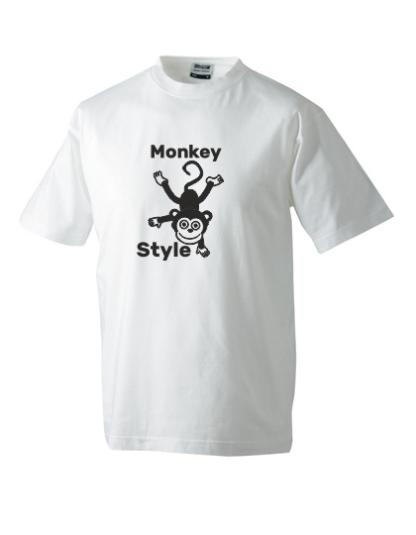 T-Shirt Monkey Style weiß