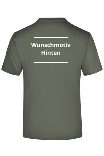 T-Shirt Druck Hinten