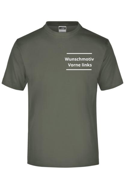 T-Shirt Druck Vorne links