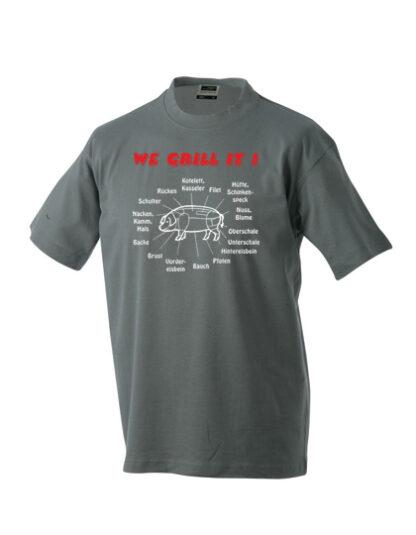 T-Shirt We grill it dunkelgrau
