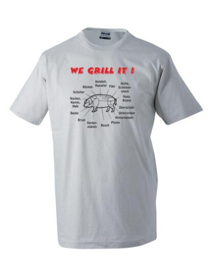 T-Shirt We grill it hellgrau