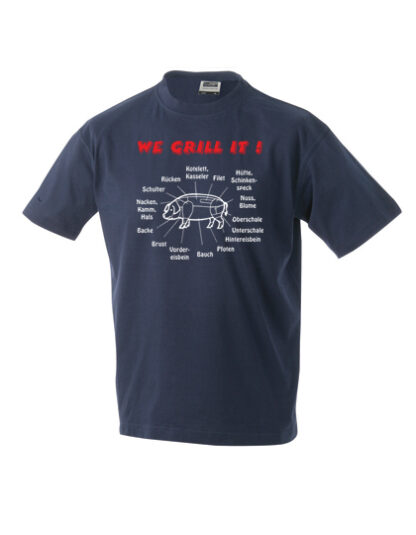 T-Shirt We grill it navy