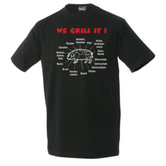 T-Shirt We grill it schwarz