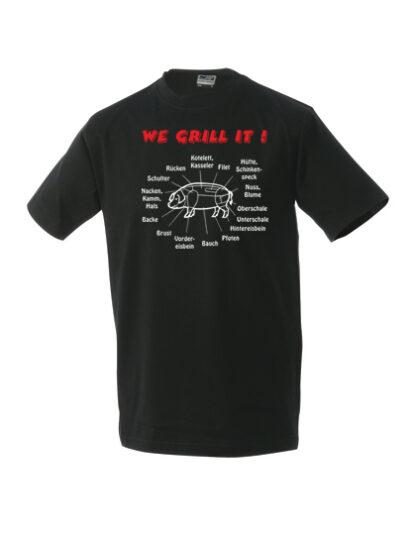 T-Shirt We grill it schwarz