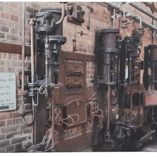 Leinwand Kohlekraftwerk Kessel